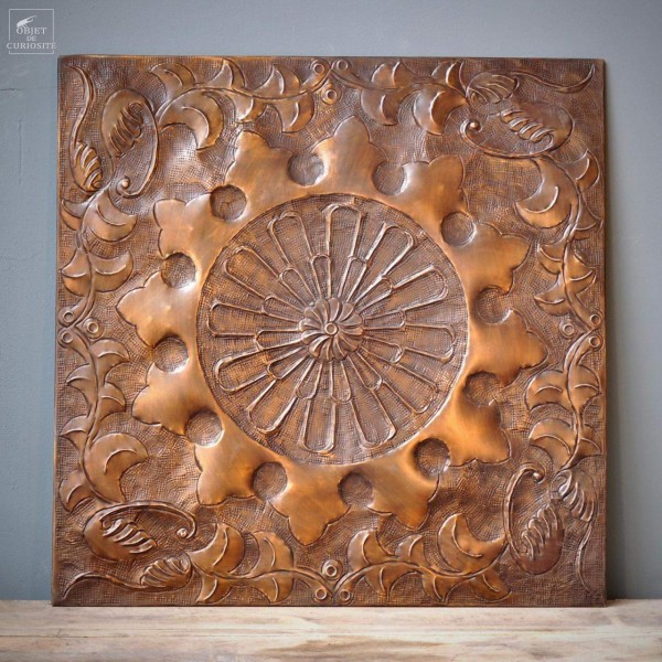 Wall decorative panel brass antiq.80x80cm