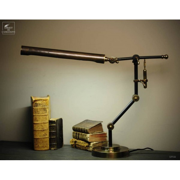 Neon desk lamp with pump
