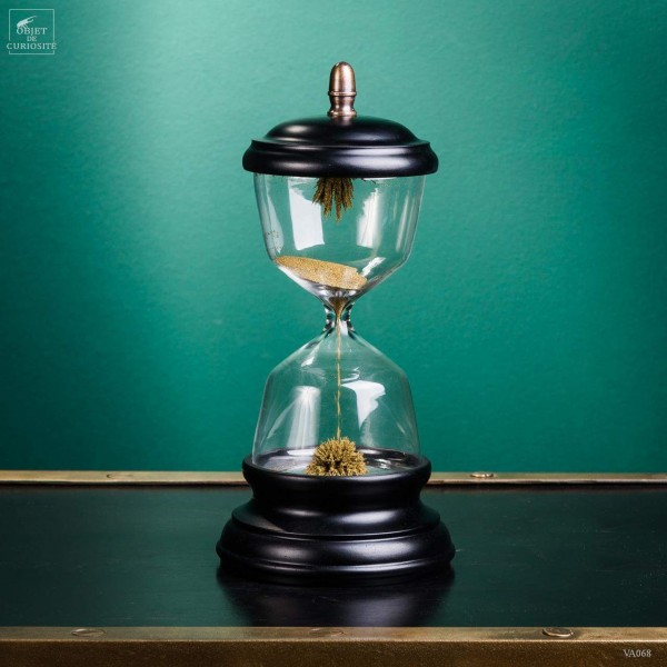 Magnetic sand timer double magnet