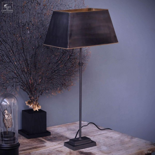 Large St Copper stem lamp copper lampshad