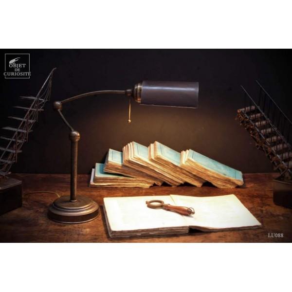 Lampe d'architecte laiton antique, ABJ cuivre
