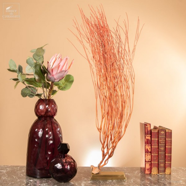Red sea Whip on brass stand