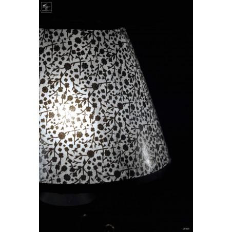 Decorative desk lampe with onyx