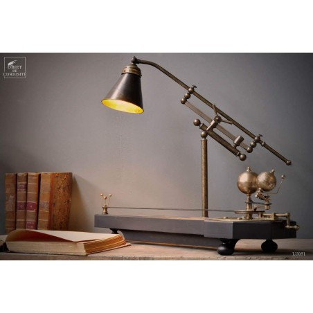 Adjustable brass desk lamp