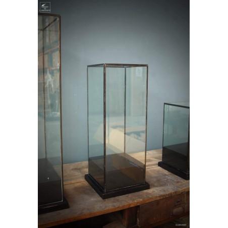 Square glass box 22x22x55cm