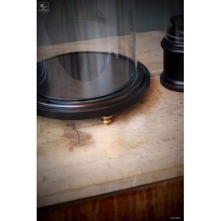 Globe sur socle noir MM VIDE avec pied 22 x 32cm ht