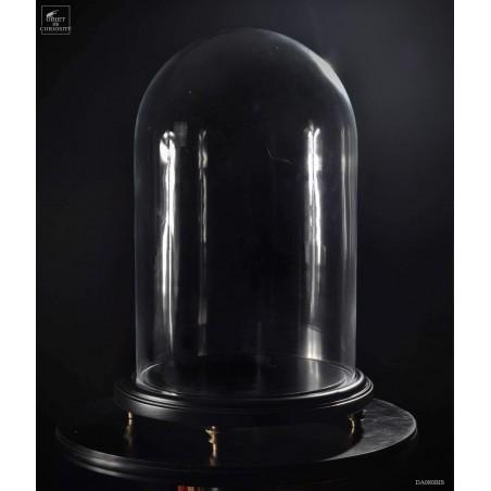 Globe sur socle noir GM VIDE avec pieds 24 x 38cm