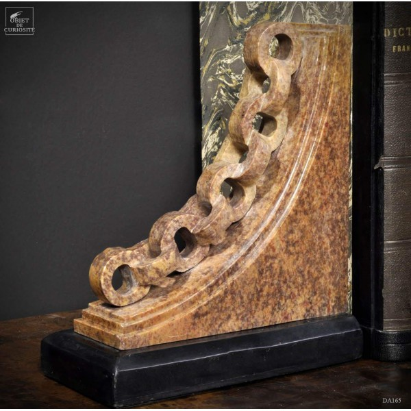Steatite chain book-end (pair)