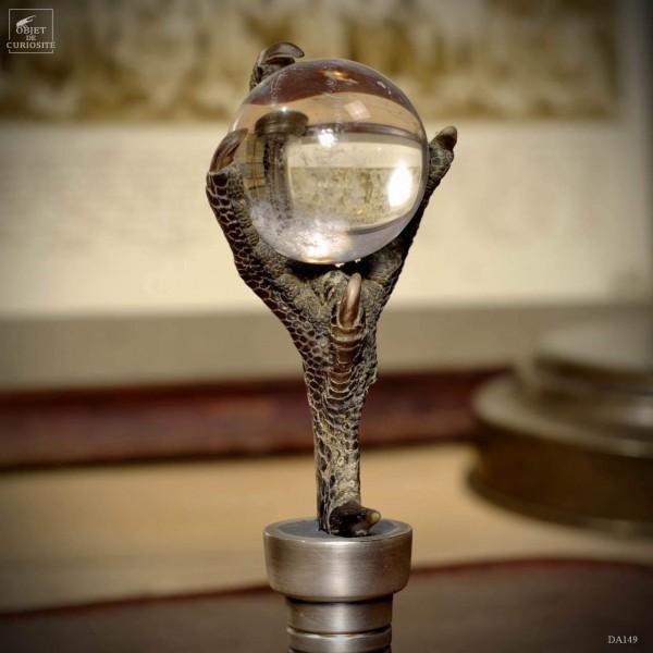 Sceau argenté : griffe avec cristal sans gravure