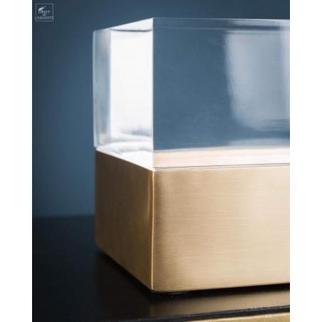 Boite acrylique et laiton rectangulaire