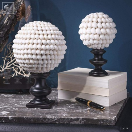Moon snails ball- on black base (Large)