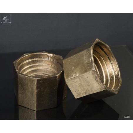 paire de serre-livre écrou laiton antique