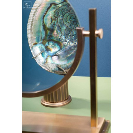 Giant magnifying glass on brass base