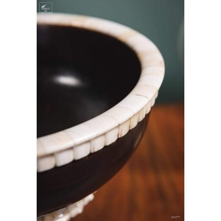 Wood and bone bowl