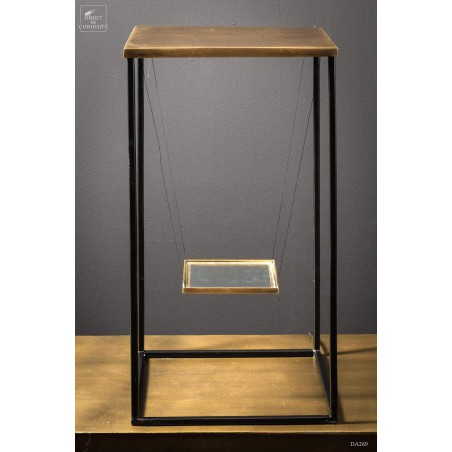 Display cage black and brass with Led
