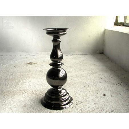 Bougeoir Carlos 2 finition noire graphite 40 cm