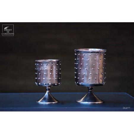 Calice à pics aluminium graphite GM Ht 24cm