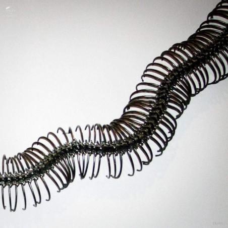black aluminium python : vertebra 1m
