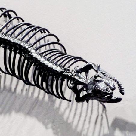 Python géant aluminium noir : tête et queue