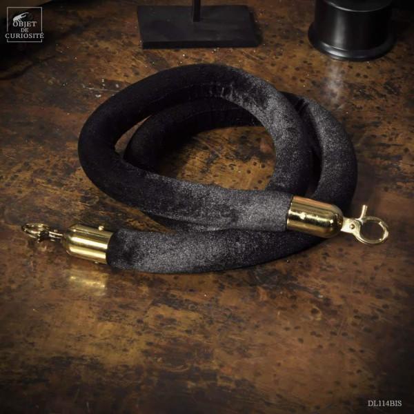 Cordon velours noirs pour  poteau de musée