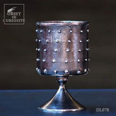 Calice à pics aluminium graphite PM Ht 18.4cm
