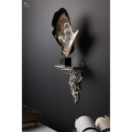 Silver plated brass wall sconce