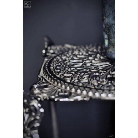 Bout de canapé  3 étagères fintion laiton noir graphite