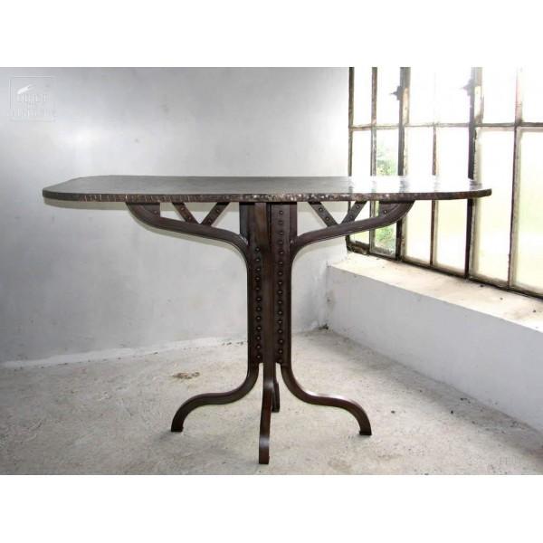 Wrought iron Eiffel style console