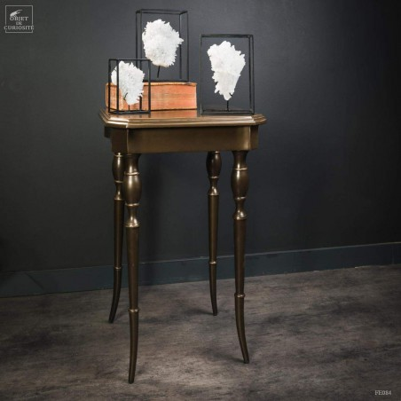 Classic side table, brass finish
