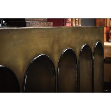 brass bridge console