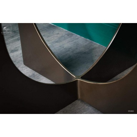Square side table - green marble