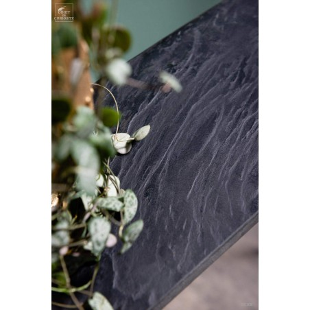 Occasional narrow console in black marble