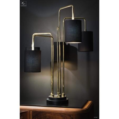 Huge 5  arms golden black table lamp