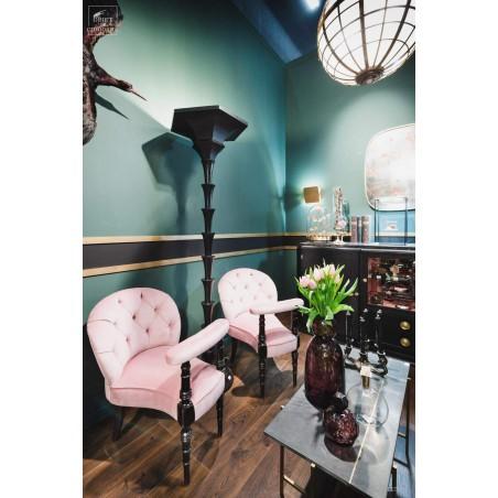 Black palm tree floor lamp