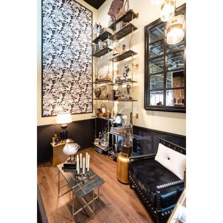 Rack - 3 black marble shelves