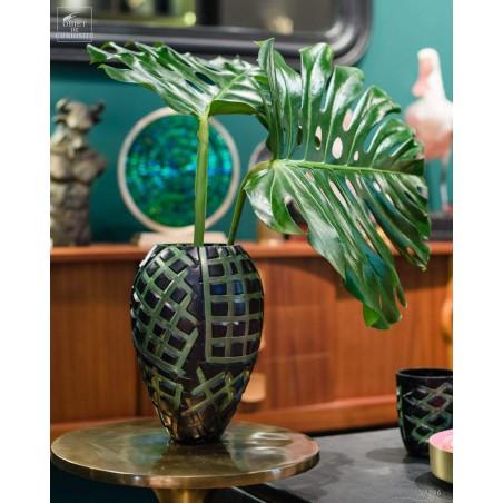Vase jungle vert et noir